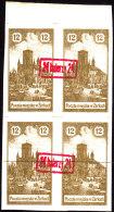 POLAND 1918 ZARKI Local Forgery Fi 6a Block Of 4 - Other