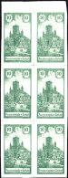 POLAND 1918 ZARKI Local Forgery Fi 8 Block Of 6 - ....-1919 Übergangsregierung