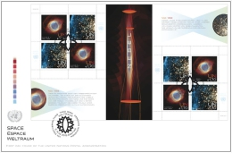 ONU Vienne 2013 - Space Espace Weltraum - FDC Feuille Entière - FDC