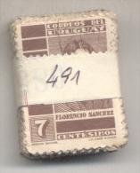 URUGUAY YVERT NR. 490  OBLITERE  PAQUETE X 100  - FLORENCIO SANCHEZ - Uruguay