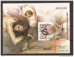 ES3762-LA007TV. Spain Espagne EXPO 2000 HOJA SIN DENTAR, BAILE  Flamenco,JOAQUIN CORTES -..LUJO - Variedades & Curiosidades