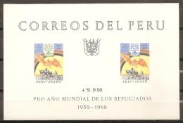 REFUGIADOS - PERU 1960 - Yvert #H3 - MNH ** - Refugees