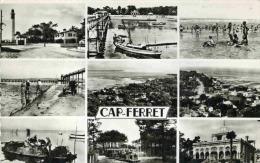 LE CAP FERRET - GIRONDE  (33) - PEU COURANTE CPSM MULTIVUES. - France