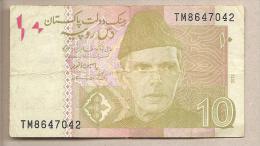Pakistan - Banconota Circolata Da 10 Rupie P-45g - 2012 #18 - Pakistan
