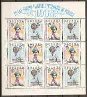 FILATELIA - POLONIA 1968 - Yvert #1703/04 (Minipliego) - MNH ** - Exposiciones Filatélicas