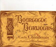 - BUVARD BOURGOGNE BEAUJOLAIS Emile CHANDESAIS à Fontaines-Mercurey - 713 - Alimentaire