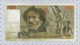 100 Francs Delacroix, Fayette N° 69-2c, état B - 100 F 1978-1995 ''Delacroix''