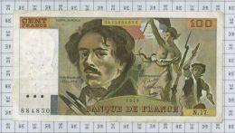 100 Francs Delacroix, Fayette N° 69-2c, état TTB - 100 F 1978-1995 ''Delacroix''
