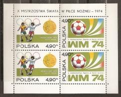 FÚTBOL - POLONIA 1974 - Yvert #H65 - MNH ** - Copa Mundial