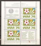 FÚTBOL - POLONIA 1974 - Yvert #H66 - MNH ** - Copa Mundial