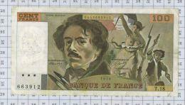 100 Francs Delacroix, Fayette N° 69-2c, état TB-TTB - 100 F 1978-1995 ''Delacroix''