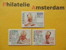 Portugal 1982, POPE JOHN PAUL II: Mi 1565-67, ** - Pausen