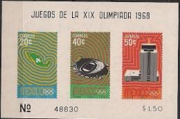 1968 Mexiko Mi. Bl. 15**MNH - Verano 1968: México