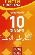 @+ Tunisie - Carte Tunisiana - Carrés 10 Dinars - Tunisie