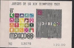 1968 Mexiko Mi. Bl. 18**MNH - Zomer 1968: Mexico-City