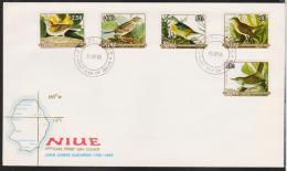 NIUE  FDC OIDEAUX  YVERT N° 464/8  Réf 4335 - Vogels
