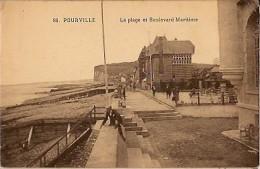 Pourville-la Plage Et Le Boulevard Maritime-cpa - France