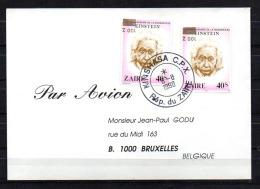 1990  Einstein, 1010 Surcharge OR Renversée, SUR LETTRE - Zaïre