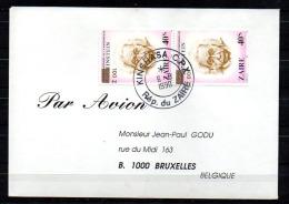 Commémoratif, Einstein, 1010 Surcharge Renversée En Paire, Cote 20 €, - Zaïre