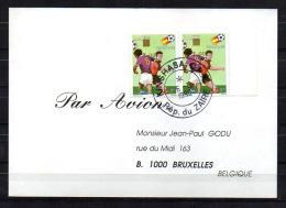 Commémoratif, Coupe Du Monde  « Espana'82 », 1100 Surcharge Renversée En Paire, Cote 20 € - Zaïre