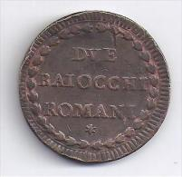 VATICAN - Due Baiocchi Romani - Pius Sextus Pon.M A. XVI. ( 1790 ) - Vaticano (Ciudad Del)