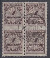 DR Minr.325A Gestempelt 4er Block Mit Sprung In Rosette - Deutschland