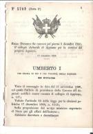 APPIANO.CONVOCAZIONE PER L´ELEZIONE DEPUTATO.R.D.N.5709-1880- B210 - Decreti & Leggi
