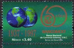 Banque Mexicaine BANCOMEXT. 60 Ieme Anniversaire. 1 T-p Neuf Mexique - Mexico