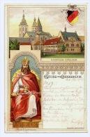 Litho AK Gruss Aus Osnabrück - Gymnasium Carolinum - Karl Der Große - Studenverbindung Wappen Mit Zirkel - 1904 - Osnabrück