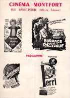 Programme 2 Volets, Cinéma Montfort à Nantes. Programme Des Projections Futures Et 17 Publicités. - Programs