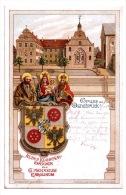 Litho AK Gruss Aus Osnabrück - Gymnasium Carolinum - Altes Klosterwappen - 1904 - Osnabrück