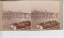 Pont De La Guillotière - Le Rhône Et L´Hôtel Dieu Rive Gauche  PRIX FIXE - Photos Stéréoscopiques
