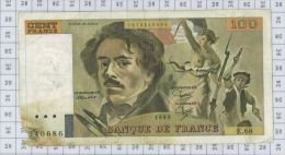 100 Francs Delacroix, Fayette N° 69-7, état AB-B - 1962-1997 ''Francs''