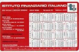 Calendarietto - Istituto Finanziario Italiano - Palermo - 1974 - Calendarios