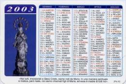 Calendarietto - Maria Ss.immacolata - Parocchia Basilica San Francesco D'assisi - Palermo - 2003 - Calendriers