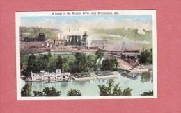 CPA -  Near BIRMINGHAM  - A Scene On The Warrior River - Cachet Pattillo - Bateau à  Vapeur - Industry - Etats-Unis