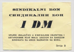 BOSNIA - BOSNIEN UND HERZEGOWINA,  1 German Mark(1993) VF, MEDICAL CENTRE In BANJA LUKA War Emergency Note - Bosnien-Herzegowina