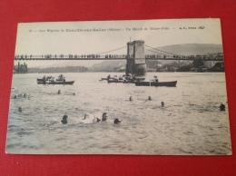 Cpa 69 NEUVILLE SUR SAONE Régates Et Match De Water Polo (barques) - France