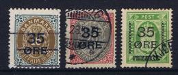 Denmark, 1912 Mi Nr 60 - 62   Used