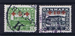 Denmark, 1921 Mi Nr 116 + 117 Used - 1913-47 (Christian X)