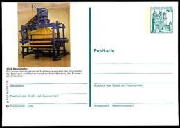 97743) BRD Ganzsachen-Bildpostkarte P 129 - G3/40, ** - 50Pf B&S - 2350 Neumünster - Webstuhl - BRD