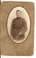 CARTE PHOTO CDV De P . CARTIER VINCENNE Militaire En Tenue ,  1er Regiment ?, - Photos