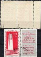 Glockenturm 1961 Gedenkstätte Sachsenhausen WZ-Abart DDR 783+ W24 I O 56€ Denkmal Architectur Tower Se-tenant Of Germany - [6] Oost-Duitsland