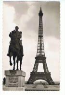 PARIS - La Tour Eiffel (et Statue Mal Foch) - N° 74 Edition E.R. - Tour Eiffel