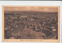 Roma  Panorama Dalla Cupola  Di San Pietro Italy Old PC - Italy