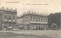 NANCY - 54 -    CPA TRES  RARE -  La Place Stanislas Et Le Théatre -  170813 - Nancy