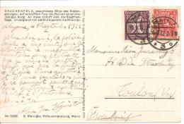 N° Y&T 166+208  MAINS   Vers FRANCE    Le   10 SEPTEMBRE 1922( 2scans) - Deutschland