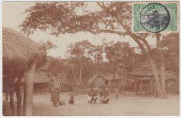 18842g CONGO BELGE - ETHNOGRAPHIQUE - Village Indigène Lafoï - 1909 - Carte Photo - Congo Belge - Autres