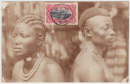 18858g CONGO BELGE - ETHNOGRAPHIQUE - Homme Et Femme Indigènes - 1909 - Carte Photo - Congo Belge - Autres