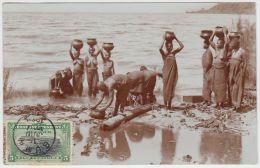 18866g CONGO BELGE - ETHNOGRAPHIQUE - Porteuses D'eau - Seins Nus - 1909 - Carte Photo - Congo Belge - Autres